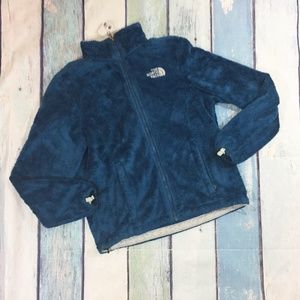The North Face TNF Blue Zip Up Fleece Jacket XS